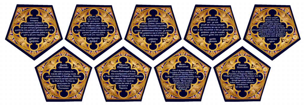 File:harry Potter - Candy - Chocolate Frog Cards - Back | Harry Potter Chocolate Frog Cards Printable