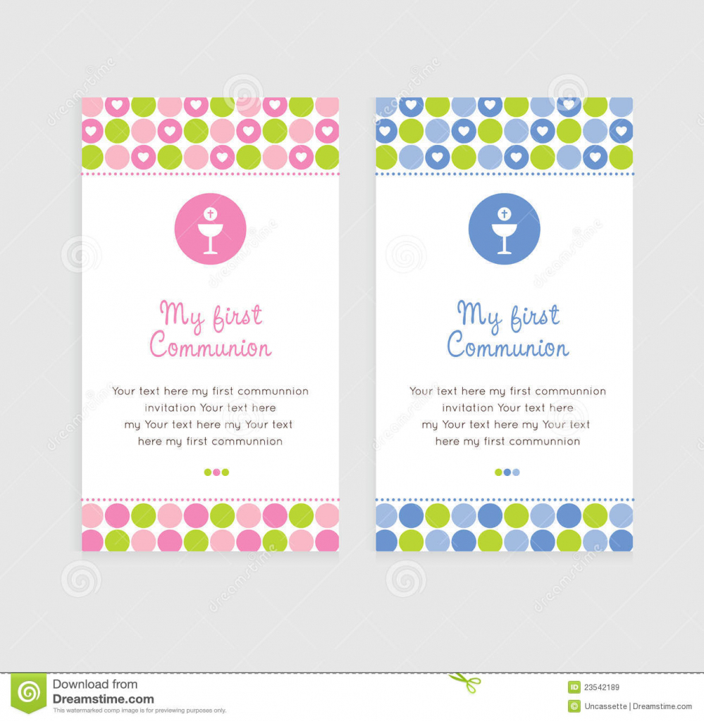 First Communion Card Stock Image. Image Of Party, Chalice - 23542189 | First Holy Communion Cards Printable Free