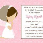 First Communion Invitation   Girl (Digital File) / 1St Communion   1St Communion Cards Printable