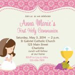 First Holy Communion Invitation Cards Free | Amber's Communion Ideas | First Holy Communion Cards Printable Free