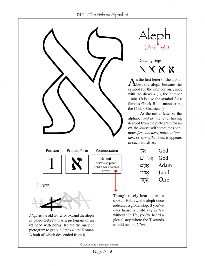 First Letter In The Hebrew Alphabet Of Consonants. | Biblical Hebrew | Printable Aleph Bet Flash Cards