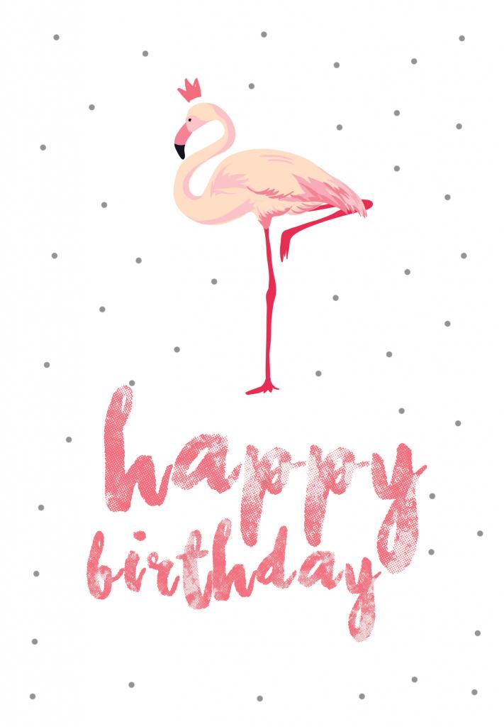 Flamingo Birthday - Free Printable Birthday Card | Greetings Island | Free Printable Birthday Cards For Wife
