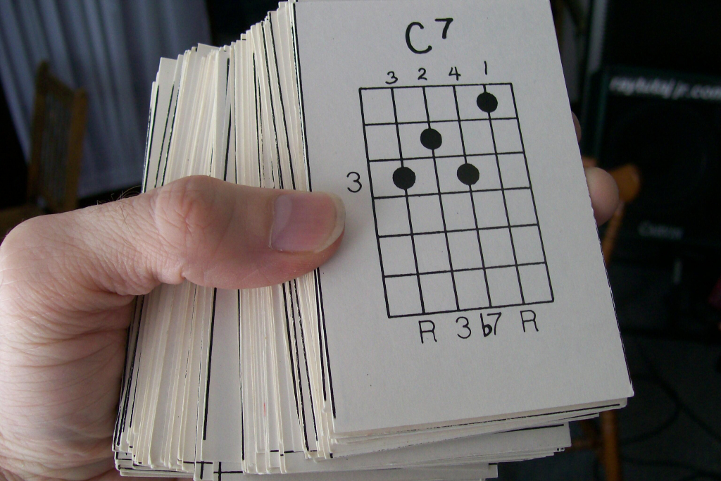 Flash Cards And More! | Guitar Chord Flash Cards Printable