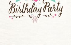 Flat Floral – Free Printable Birthday Invitation Template | Printable Birthday Invitation Cards For Adults