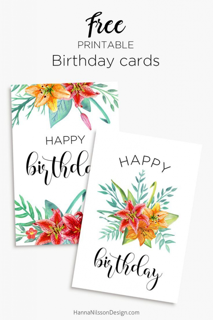 Floral Birthday Cards | Free Birthday Card Printables | Birthday | Printable Birthday Cards For Mom Funny