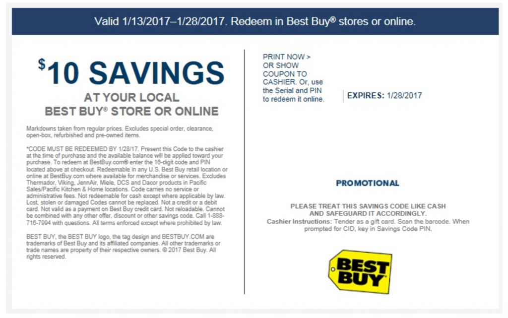 Free $10 At Best Buy - Check Your Emails - Doctor Of Credit | Best Buy Printable Gift Card