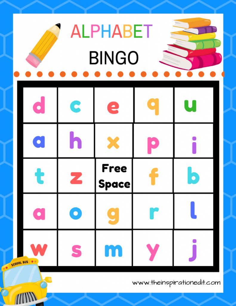 Free Alphabet Bingo Printable For Kids · The Inspiration Edit | Free Printable Alphabet Bingo Cards