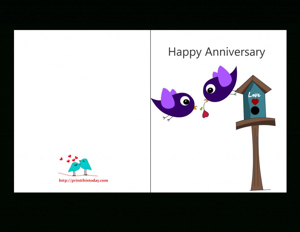 Free Anniversary Cards To Print | Free Printable Anniversary Cards | 60Th Anniversary Cards Printable