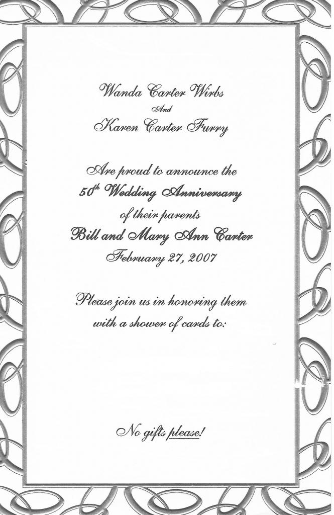 Free Anniversary Invitation Cliparts, Download Free Clip Art, Free | Free Printable 50Th Anniversary Cards