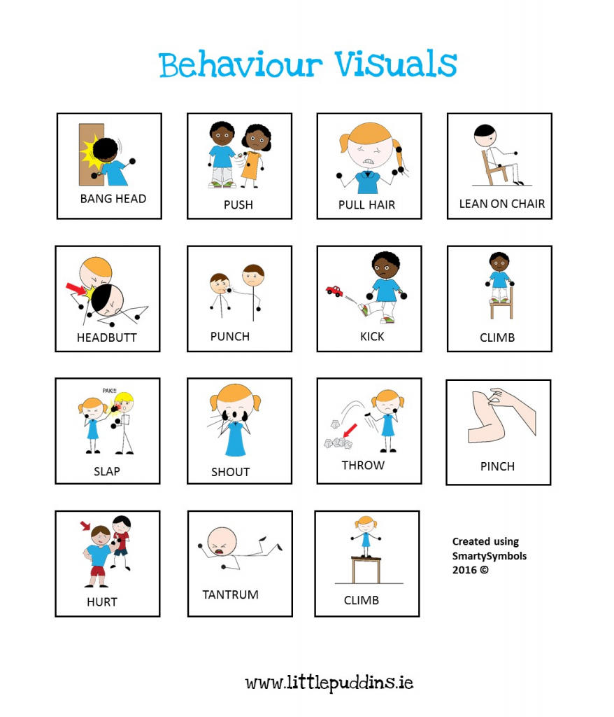 Free Behavior Printable – Little Puddins Free Printables | Picture Cards For Autism Printable