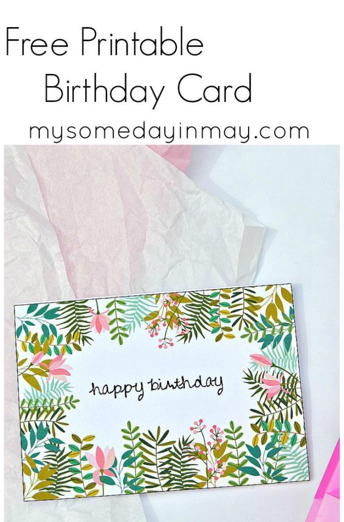 Free Birthday Card | Birthday Ideas | Free Printable Birthday Cards | Free Printable Personalized Birthday Cards