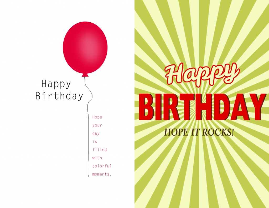 Free Birthday Card Design - Kleo.bergdorfbib.co | Design Your Own Birthday Card Printable