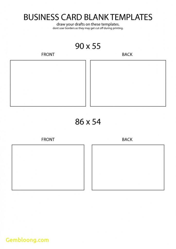 Free Blank Business Card Template Front And Back Design   Business   Free Printable Blank Business Cards