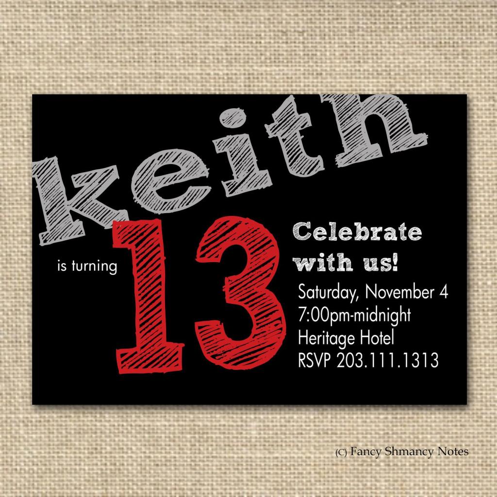 Free Boys Birthday Invitation Templates   Teen Boy's Birthday   Printable Birthday Cards For Teenage Guys