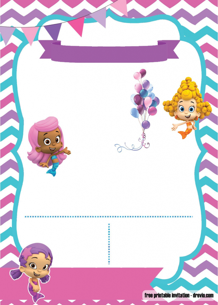Free Bubble Guppies Invitation | Free Printable Birthday | Bubble Guppies Printable Birthday Cards