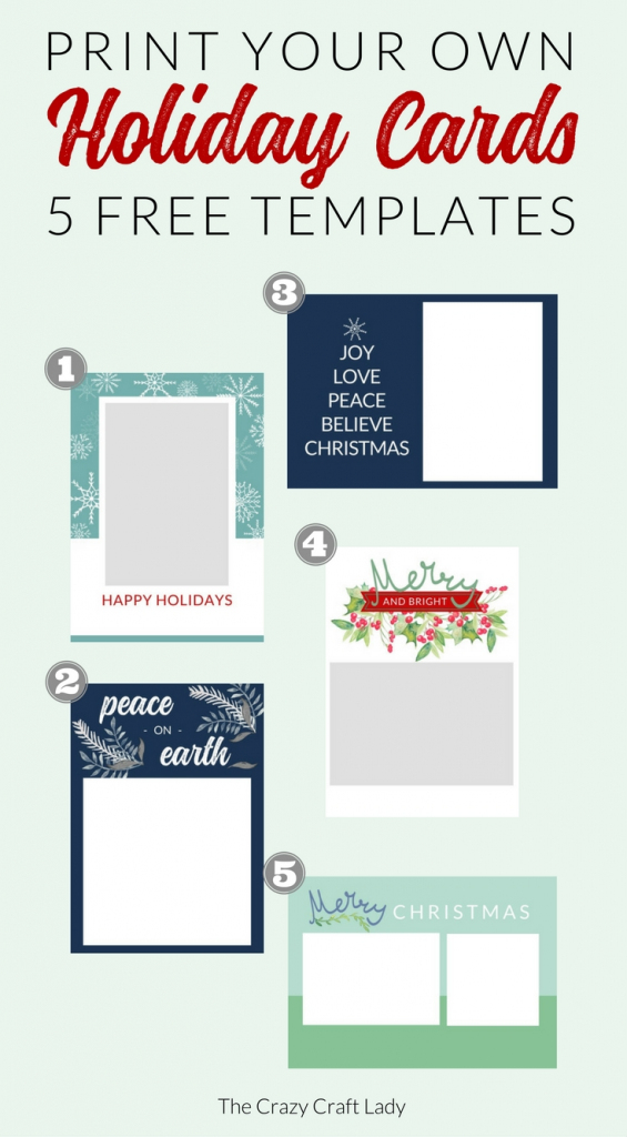 Free Christmas Card Templates - The Crazy Craft Lady | Free Printable Happy Holidays Greeting Cards