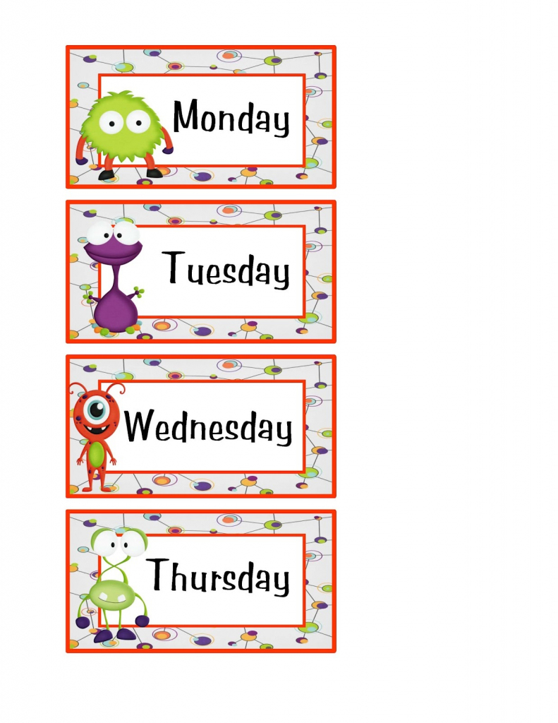 Free Days Of The Week Worksheets | Activity Shelter | Free Printable Days Of The Week Cards