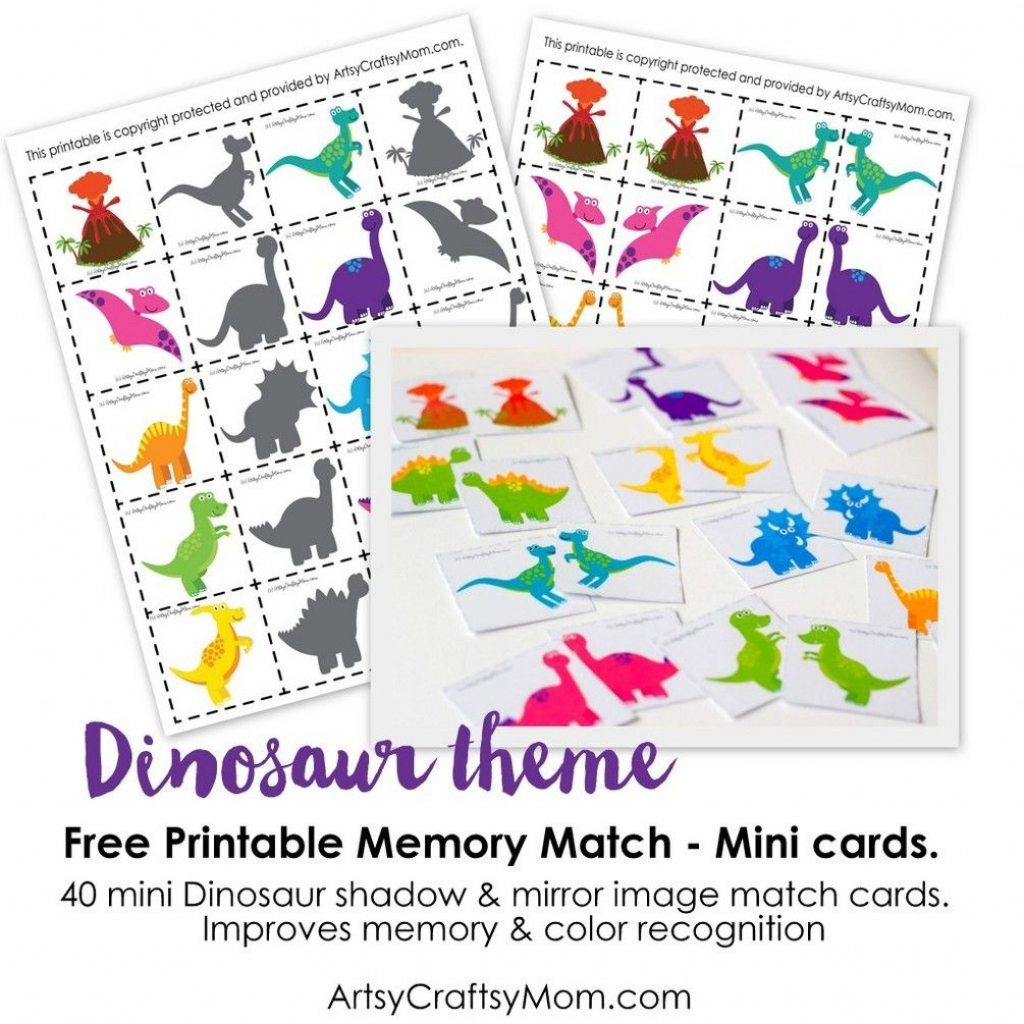 Free Dinosaur Match Game | Kids Craft Stars | Memory Games For Kids | Free Printable Matching Cards