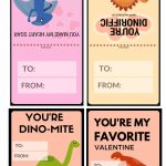 Free Dinosaur Valentines Day Cards Printables | Valentines Day | Printable Dinosaur Valentine Cards
