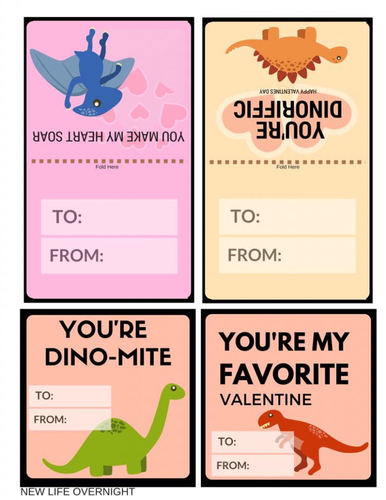 Free Dinosaur Valentines Day Cards Printables | Valentines Day | Printable Dinosaur Valentine Cards