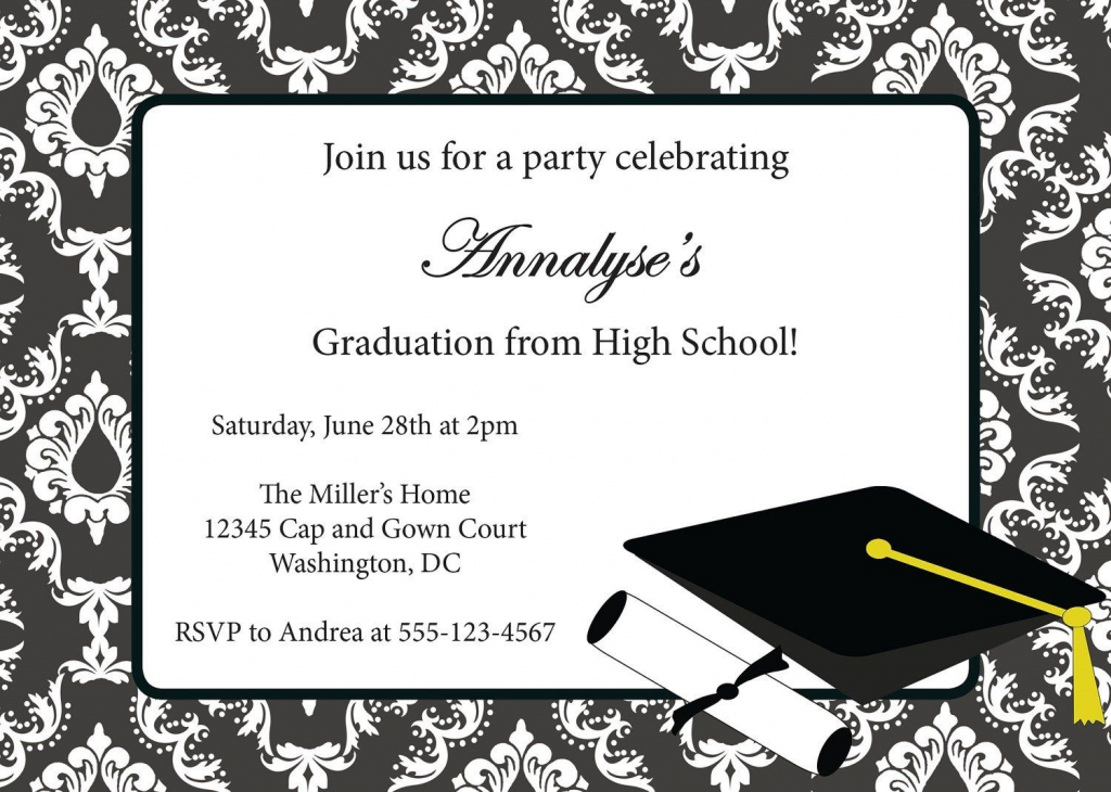 Free Download College Graduation Announcements. Printable | Graduation Invitation Cards Printable