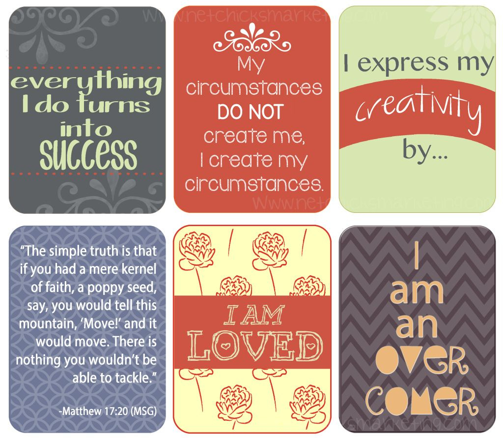 Free Download: Positive #affirmations Printable - Include Them With | Free Printable Positive Affirmation Cards