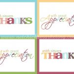 Free Download: Practice Thankfulness Postcards   Very Cute Set Of | Free Printable Custom Thank You Cards