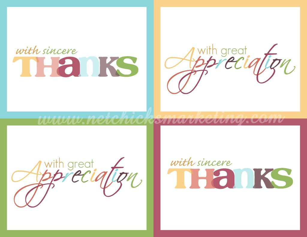 Free Download: Practice Thankfulness Postcards - Very Cute Set Of | Free Printable Custom Thank You Cards