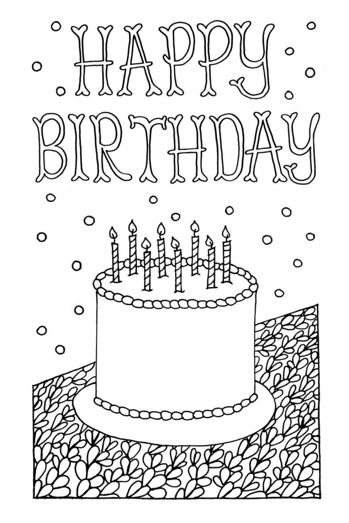 Free Downloadable Adult Coloring Greeting Cards | Diy Gifts | Printable Coloring Birthday Cards