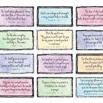 Free Downloadable Scripture Cards. Print On Card Stock And Place On | Free Printable Scripture Cards