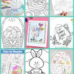 Free Easter Coloring Pages   Happiness Is Homemade | Free Printable Easter Cards To Print
