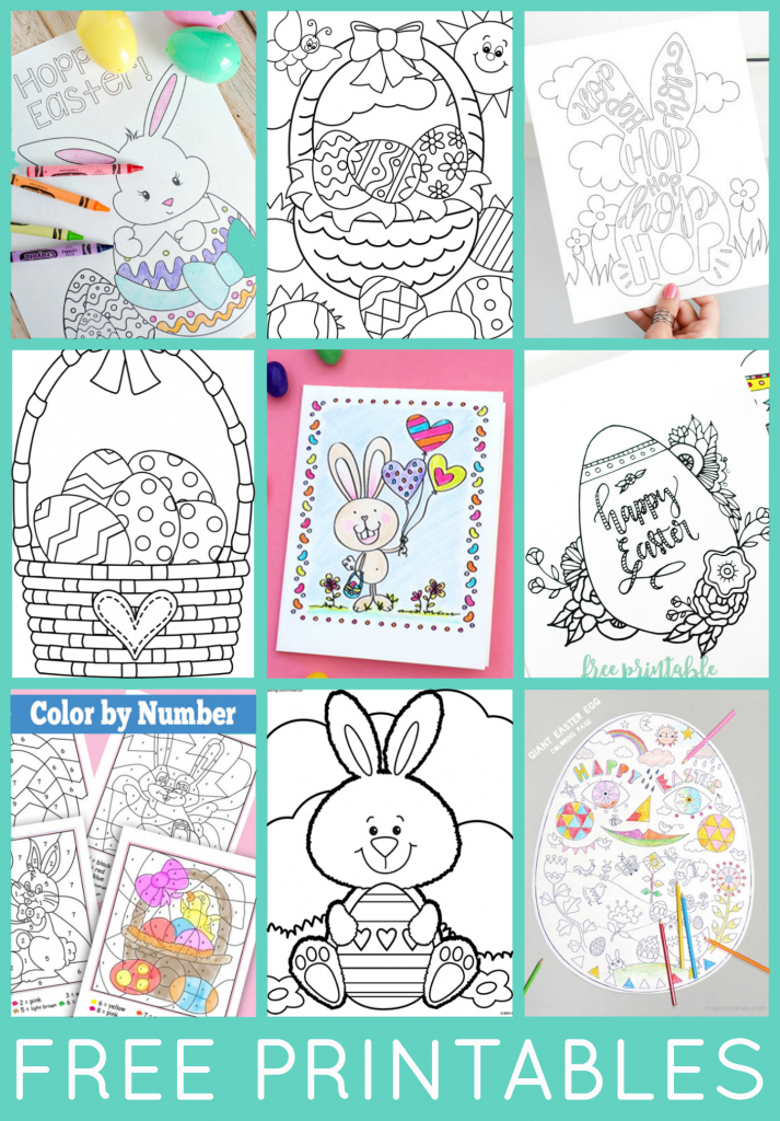 Free Easter Coloring Pages - Happiness Is Homemade | Free Printable Easter Cards To Print