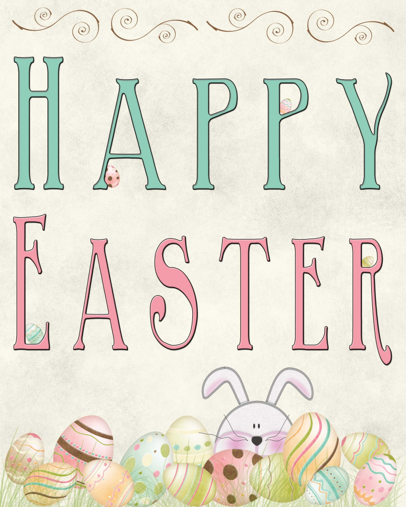 Free Easter Printable | ~Easter ~ | Easter Printables, Easter | Happy Easter Greeting Cards Printable