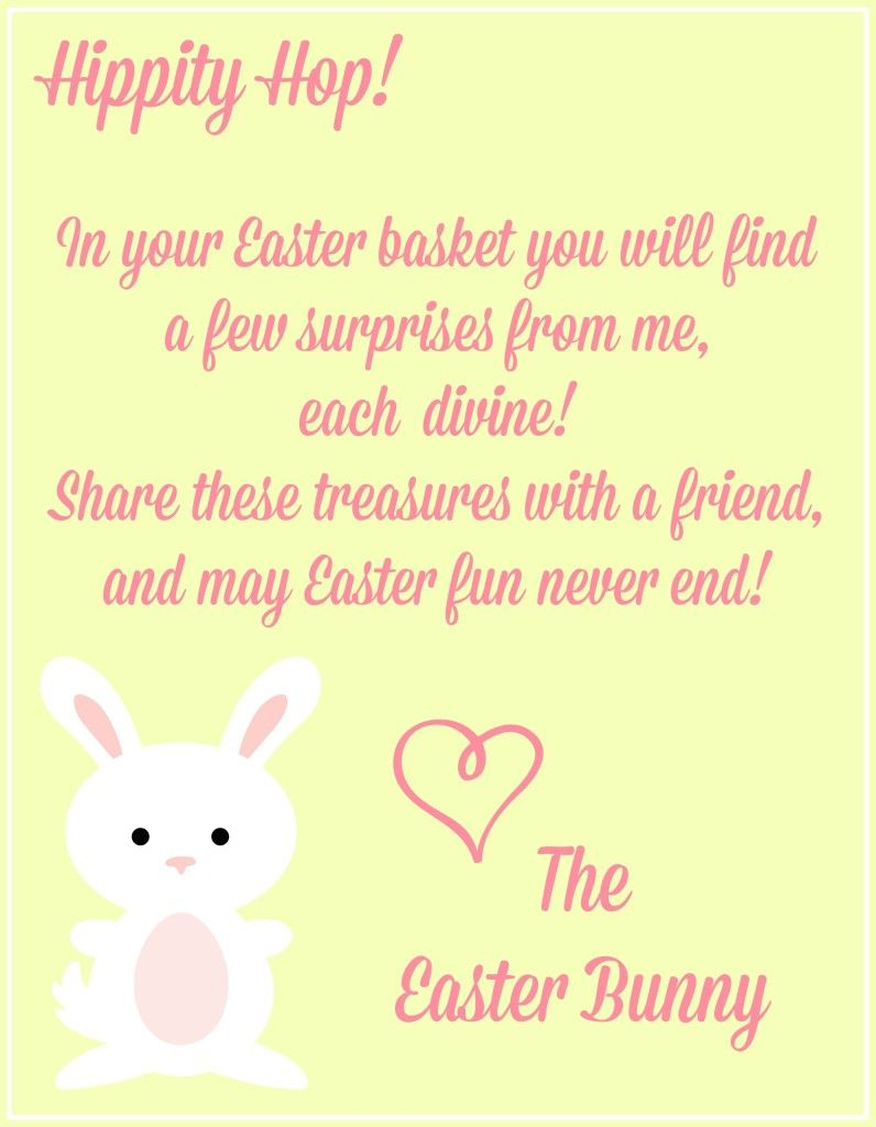 Free Easter Printables {Notes From The Easter Bunny} - | Craft Ideas | Free Printable Easter Cards For Grandchildren