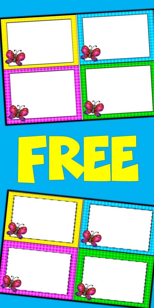 Free Editable Spring Card Templates | Butterflies | Butterfly | Free Printable Blank Task Cards