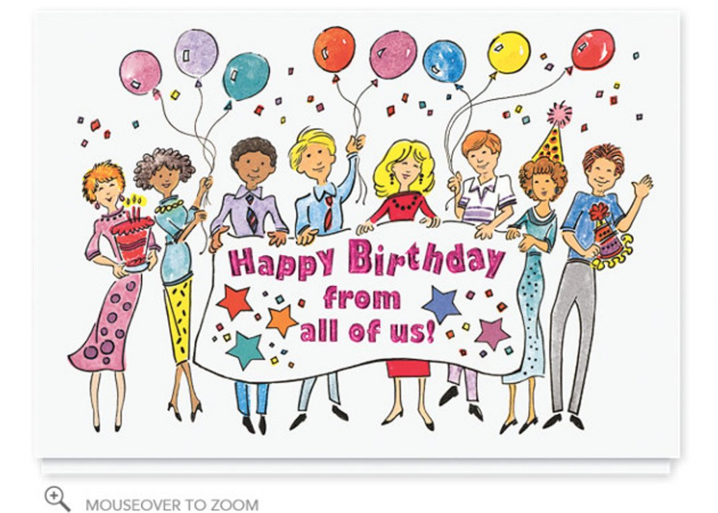 Free Embroidery Designs, Cute Embroidery Designs | Happy Birthday From All Of Us Printable Cards