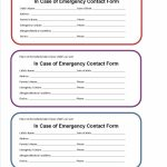 Free Emergency Contact Card Template   Kleo.bergdorfbib.co | Free Printable Id Cards Templates