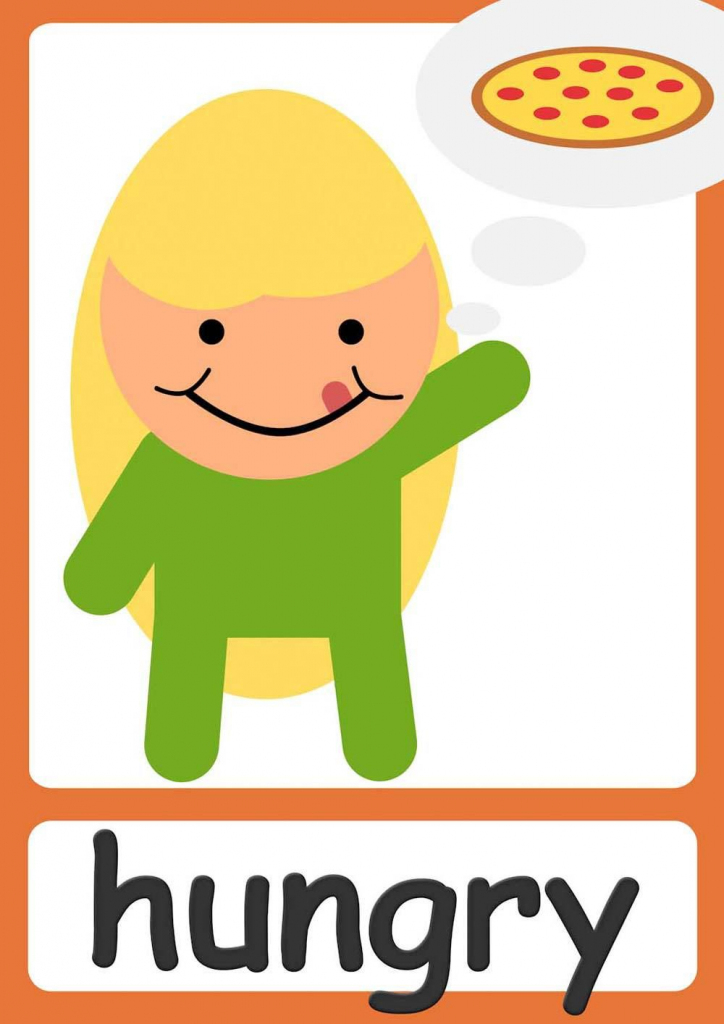 Free Feelings Flashcards For Kindergarten & Preschool! Learn   Printable Picture Cards For Kindergarten