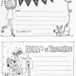 Free Fill In The Blank Thank You Cards For Kids | Skip To My Lou | Printable Thank You Cards For Kids To Color