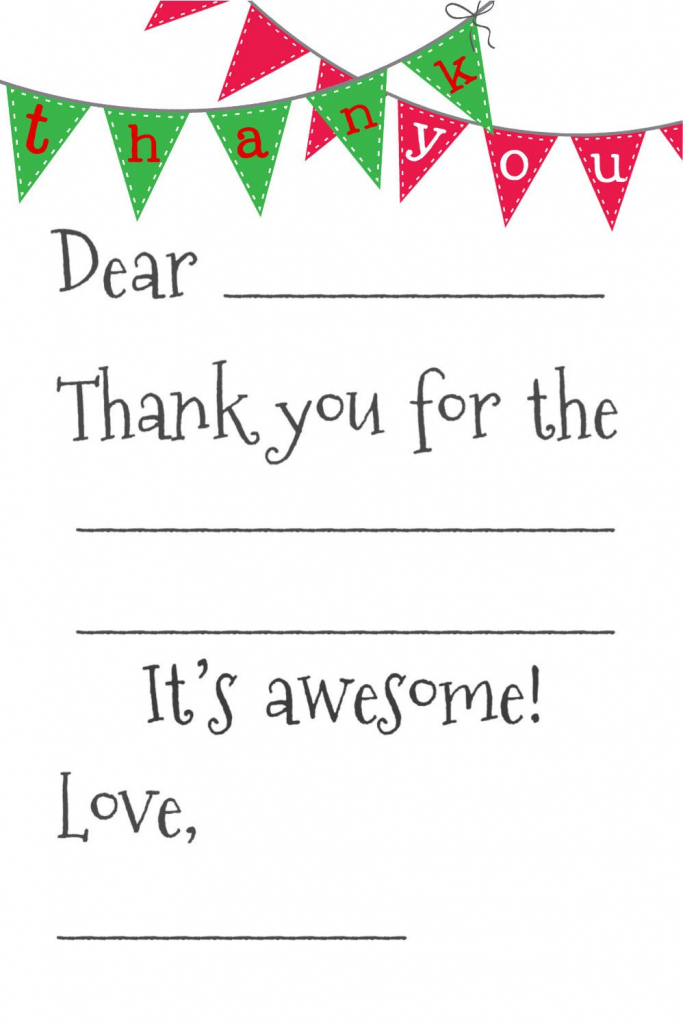 Free Fill-In-The-Blank Thank-You Cards | Printables | Free Thank You | Fill In The Blank Thank You Cards Printable Free