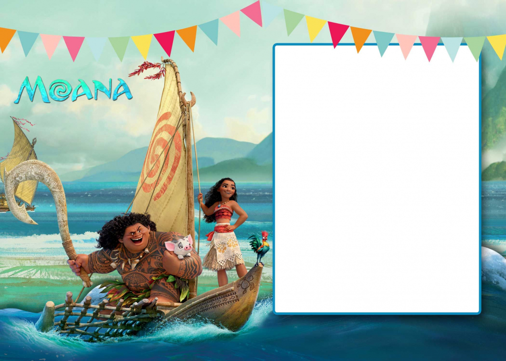 Free Free Printable Moana 1St Invitation Template | Bagvania | Free Printable Moana Birthday Cards