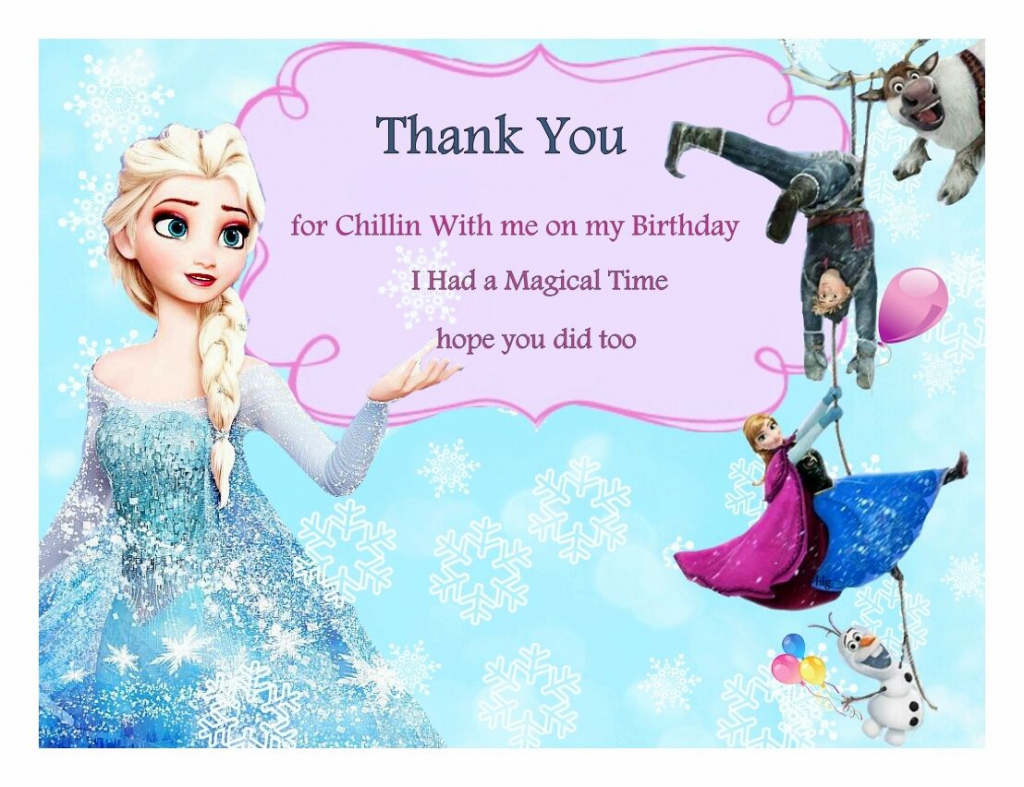 Free Frozen Birthday Thank You Cards | Frozen Party | Frozen | Disney Frozen Thank You Cards Printable