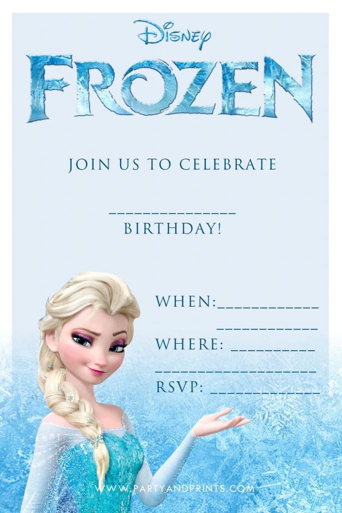 Free Frozen Invitation | Birthday Ideas | Frozen Birthday Party | Disney Frozen Thank You Cards Printable