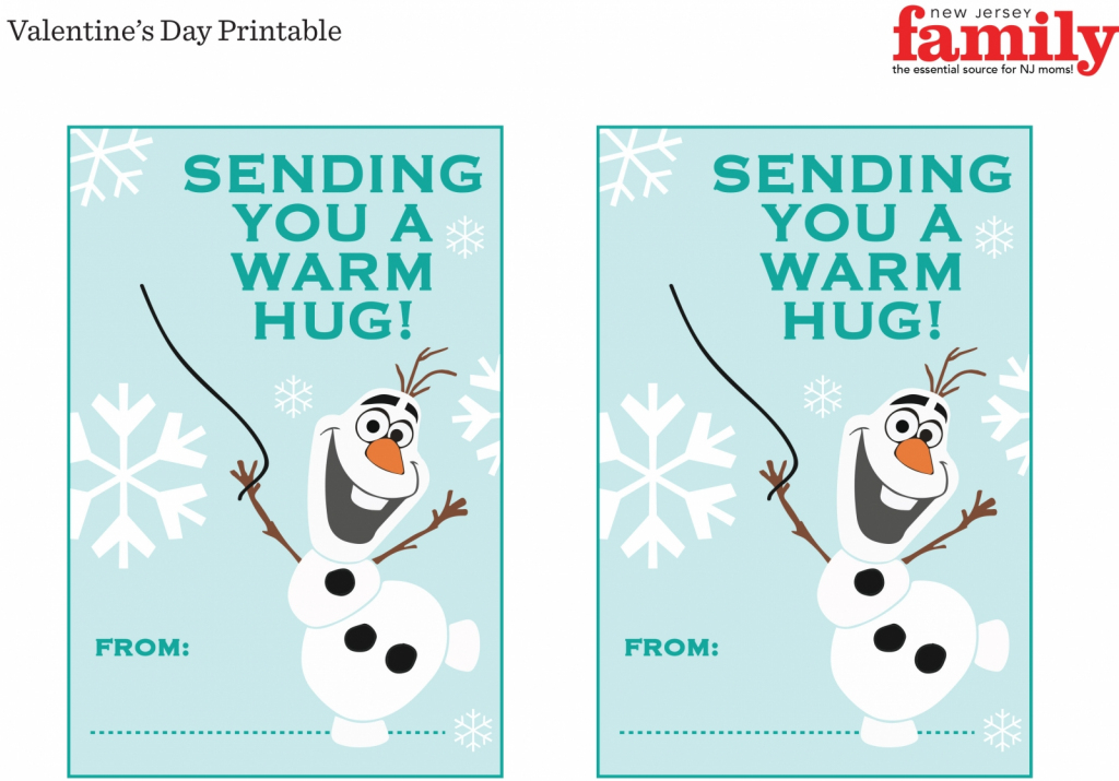 Free Frozen Valentine Printable - Nj Family | Frozen Valentine Cards Printable