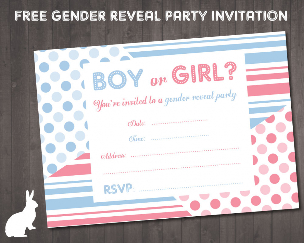 Free Gender Reveal Party Invitation   Free Party Invitationsruby   Printable Gender Reveal Voting Cards