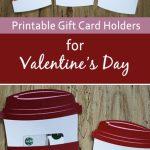 Free Gift Card Holder   Latte Valentine Gift Card Holder | Seasonal | Printable Starbucks Gift Card