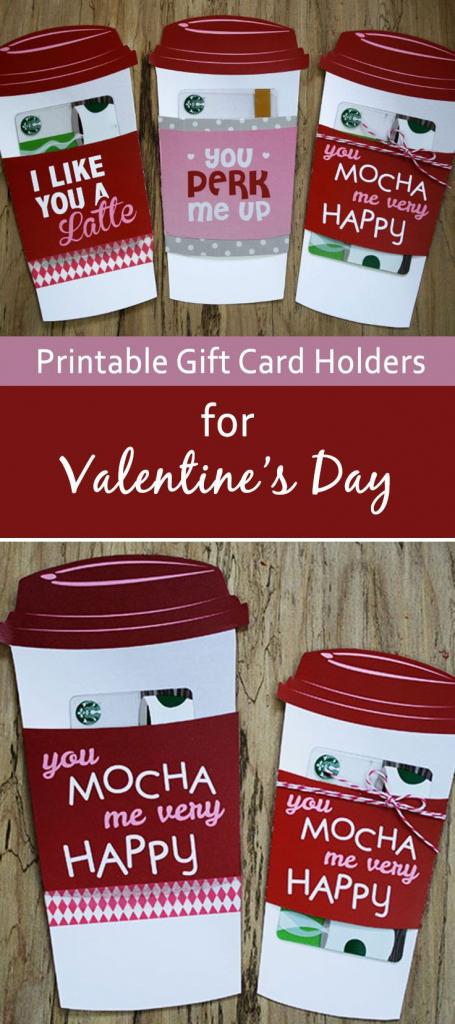 Free Gift Card Holder - Latte Valentine Gift Card Holder | Seasonal | Printable Starbucks Gift Card