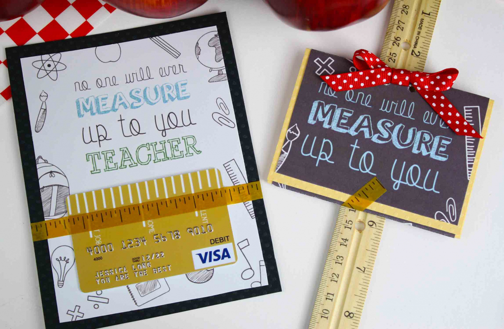 Free Gift Card Holder - Teacher Appreciation Gift Card | Giftcards | Printable Visa Gift Cards