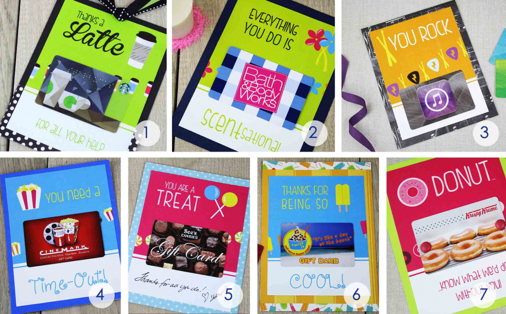Free Gift Card Holders - Say Thank You With Gift Cards   Giftcards   Printable Starbucks Gift Card