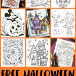 Free Halloween Coloring Pages For Adults & Kids   Happiness Is Homemade | Printable Halloween Cards To Color For Free